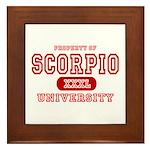 Scorpio University Property Framed Tile