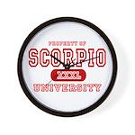 Scorpio University Property Wall Clock