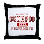 Scorpio University Property Throw Pillow
