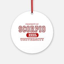 Scorpio University Property Ornament (Round)