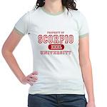 Scorpio University Property Jr. Ringer T-Shirt