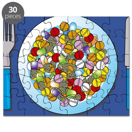 Pills on a plate - Puzzle
