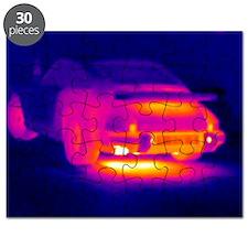 Porsche car, thermogram - Puzzle