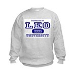 Leo University Property Kids Sweatshirt