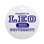 Leo University Property Ornament (Round)