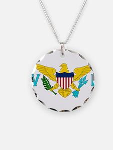 Flag of US Virgin Islands Necklace