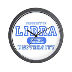 Libra University Property Wall Clock