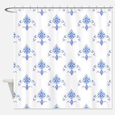 Periwinkle Fleur Shower Curtain