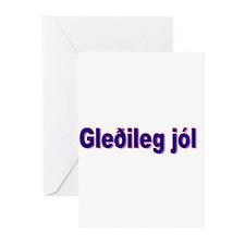 """Package of Six """"Glædelig Jul"""" Cards"""