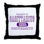 Sagittarius University Throw Pillow