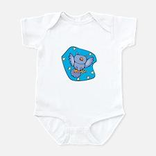 Cute Blue Starry Night Owl Infant Bodysuit