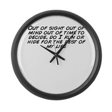Funny Running out time Large Wall Clock