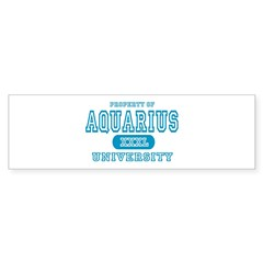 Aquarius University Property Bumper Bumper Sticker