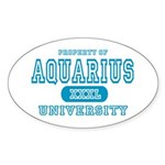Aquarius University Property Oval Sticker