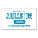 Aquarius University Property Rectangle Sticker