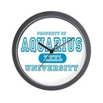 Aquarius University Property Wall Clock