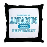Aquarius University Property Throw Pillow