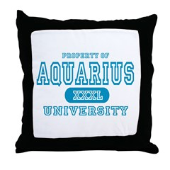 Aquarius University Property Throw Pillow