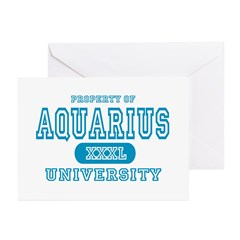 Aquarius University Property Greeting Cards (Packa