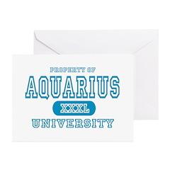 Aquarius University Property Greeting Cards (Packa