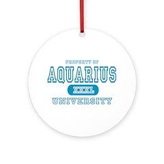 Aquarius University Property Ornament (Round)