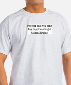 Afghan Happiness Ash Grey T-Shirt