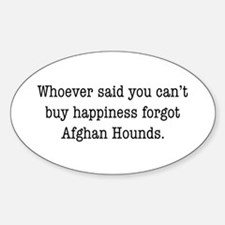 Afghan Happiness Oval Decal