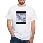 White and Blue Skull White T-Shirt