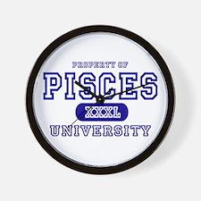 Pisces University Property Wall Clock