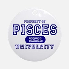 Pisces University Property Ornament (Round)