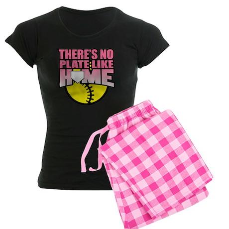 Softball No Plate Like Home Women's Dark Pajamas