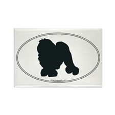 Lowchen Silhouette Rectangle Magnet