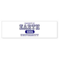 Earth University Property Bumper Bumper Sticker