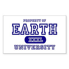 Earth University Property Rectangle Decal
