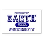Earth University Property Rectangle Sticker