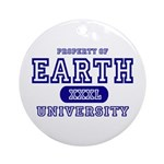 Earth University Property Ornament (Round)