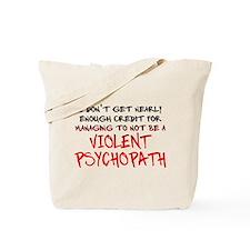 Psychopath Credit Funny T-Shirt Tote Bag