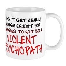 Psychopath Credit Funny T-Shirt Small Mugs