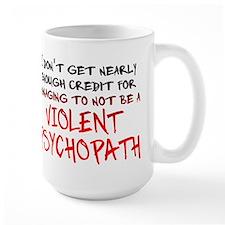 Psychopath Credit Funny T-Shirt Ceramic Mugs