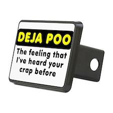 Deja Poo Funny T-Shirt Hitch Cover