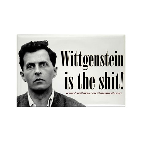 Wittgenstein is the Shit.jpg Rectangle Magnet