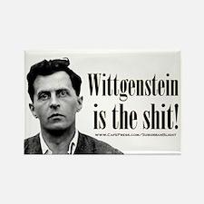 Wittgenstein is the Shit.jpg Rectangle Magnet
