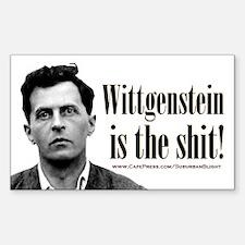 Wittgenstein is the Shit.jpg Sticker (Rectangle)