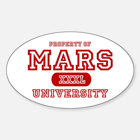 Mars University Property Oval Decal