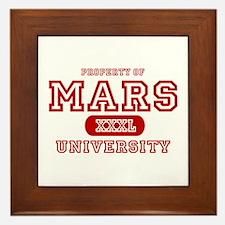 Mars University Property Framed Tile