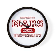 Mars University Property Wall Clock