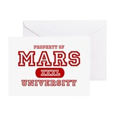 Mars University Property Greeting Cards (Package o