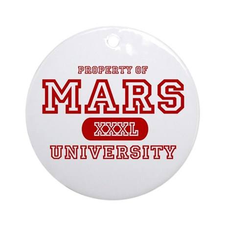 Mars University Property Ornament (Round)