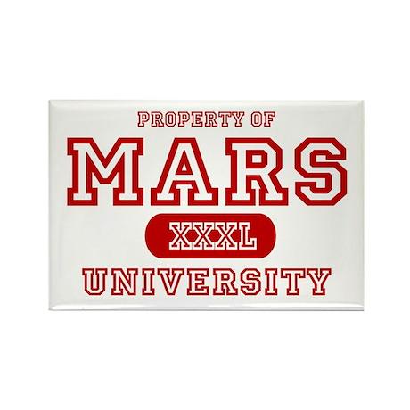 Mars University Property Rectangle Magnet