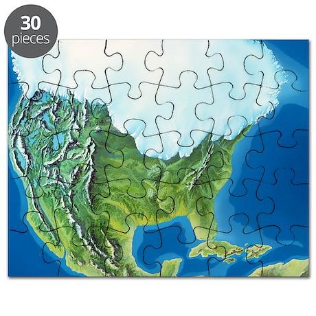 North American glaciation - Puzzle